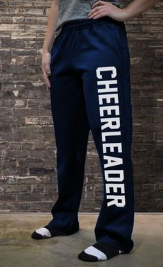 Cheerleading Fleece Sweatpants Varsity Cheerleader I NEED this! Cheer Tryouts, Cheer Coaches, Cheer Stunts, Cheer Gifts, Cheerleading Outfits, Cheer Dance, Cheer Mom, Cheerleading Chants, Cheerleading Workouts