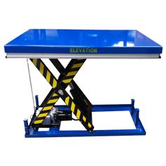 The static lifting table 2000kg uses a hydraulic scissor lift to raise loads of up to 2000kg which can be used as an ergonomic lifting aid or goods lift.