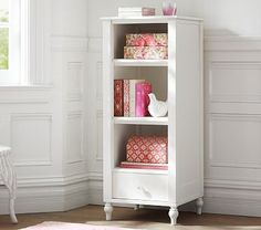 Whitney Bookcase - White - need 2 - put 1 on each side of bench (on wall between door and closet)