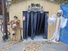 Halloween Decorations 2015--The carport entrance