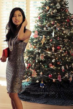 Holiday sequined outfit by PetiteAsianGirl, via Flickr