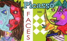 Easy Picasso Portrait art lesson in oil pastel