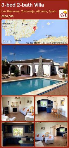 3-bed 2-bath Villa in Los Balcones, Torrevieja, Alicante, Spain ►€250,000 #PropertyForSaleInSpain