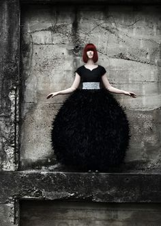 Feathered Dress photographed by Claire Mcadams - Picture Of The Week - ONE EYELAND