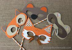woodland masks pattern | How to make Woodland Creature Masks :: Tutorial on HoosierHomemade.com