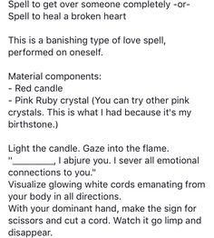 Getting Over Someone, Healing A Broken Heart, Ruby Crystal, Pink Candles, My Birthstone, Love Spells, Get Over It, You Can Do, Witchcraft