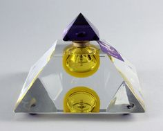 Baccarats Les Larmas, Sacress de Thebes – $6,800 per oz  The magnificent bottle is made of Baccarat crystal and highly crafted to take the shape of pyramid with a purple topper. The liquid of the fragrance is a combination of frankincense and myrrh notes that give the fragrance an amazing scent.