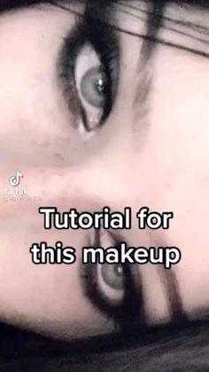 Makeup Eye Looks, Eye Makeup Art, Pretty Makeup, Makeup Inspo, Makeup Ideas, Makeup Tutorial Eyeliner, No Eyeliner Makeup, Skin Makeup, Emo Eyeliner
