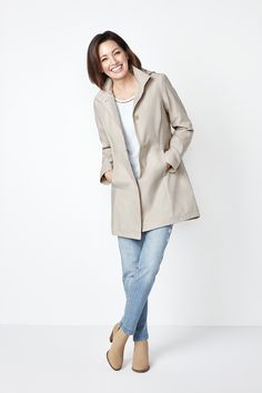 Wrap yourself in this delicately coloured trench styled jacket. A perfect shade for the season, this jacket pairs well with any outfit to keep yourself covered anyw Trench, Duster Coat, Buttons, Pairs, Jackets, Color, Outfits, Style, Fashion
