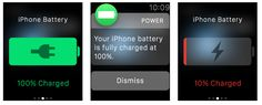 Apple Watch iPhone Battery Life Notifiche stato batteria dell' iPhone