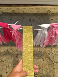 I wanted to make a tassel garland for a baby shower for a friend. I have seen so many cute examples on Pinterest for these using tissue paper, ribbon, etc. Since we sell a wide range of colored cre…