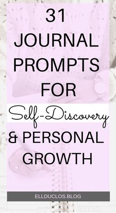 31 journal prompts for self discovery and personal growth. #journalprompts #journalideas #selfdiscovery #selfcare #journaling #personaldevelopment #personalgrowth #writingprompts