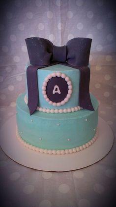 Monogram birthday cake <3