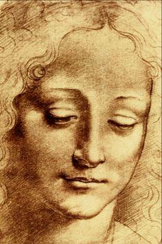 Teste di Giovinetta by Leonardo da Vinci