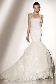 #PepeBotella 2012 bridal collection -- this mermaid style works great .. one of my favs that ive seen