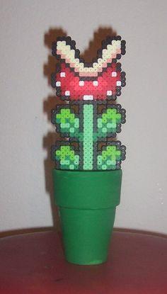 Nintendo Super Mario Piranha Plant Perler Bead by HDorsettCase, $10.00