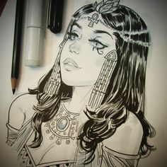 Because youre so nice to me and put up with my last post... inktober cleopatra ... Keep on keepin on!