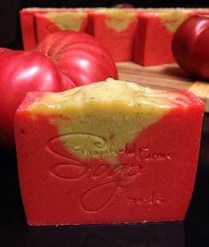 Heirloom Tomato Gazpacho Soap by ShapfieldFarmsSuds on Etsy, $6.00