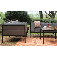 Ae Outdoor Manhattan 4 Piece Resin Patio Conversation Set At Lowes See Reviews On Wayfair Low Back