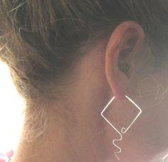 Warrior Women Sterling Silver Hoop Earrings by LotusHandmadeHoops