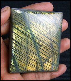595 CTS UNTREATED RAINBOW NATURAL LABRADORITE GOLDEN SHINE GEMSTONE NR! | eBay