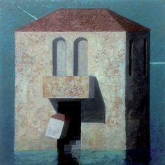 Matthias Brandes, Piccolo Palazzo, 2016, oil and tempera on canvas, 20 x 20 cm…