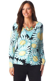 Exploded Daisy Cardigan - Christopher & Banks