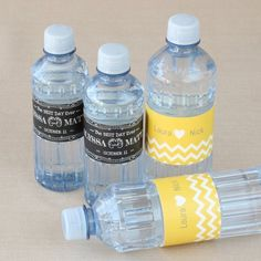 Custom Label Bottled Water - Wedding Designs by Beau-coup