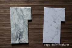 Paper Doll Miniatures: Tutorial Marble kitchen tops