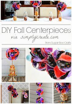 Sugar Bee Crafts: DIY Fall Centerpieces