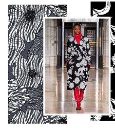 Autumn/Winter Print Trend - Monochrome Blow Ups - Patternbank Fashion Collage, Fashion Prints, Autumn Winter Fashion, Fall Winter, Monochrome Pattern, Monochrome Fashion, Textiles, Color Trends, Fasion