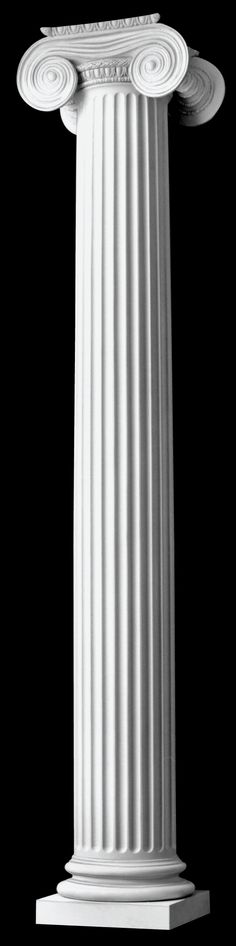 loadbearing classical greek architectural columns with fluted top (interior or exterior)