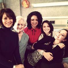 Mary Page Keller, Rebecca Schull, Aisha Dee, Italia Ricci, and Haley Ramm