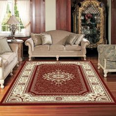 CHARISMA TRADITIONAL BRANCHES BORDER RUGS