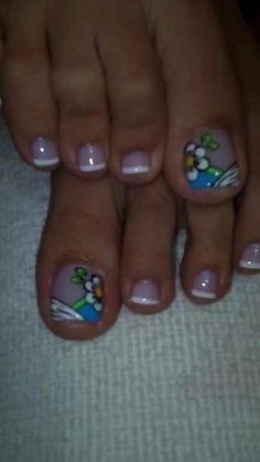Cute Toe Nails, Cute Toes, Toe Nail Art, Pedicure Designs, Toe Nail Designs, Toe Board, Floral Nail Art, Pixi, Google Search