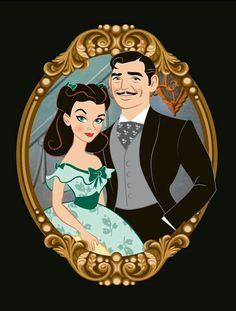 Rhett & Scarlett illustration by Allegandro Mogollo