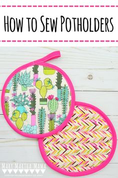 In this tutorial you will learn how to sew potholders.  These cute, quilted potholders are very simple to make and sew up in very little time. #sewingprojects #howtosewpotholders #howtosew #sewingtutorials