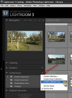 Organizing photos in Lightroom with Collection Sets
