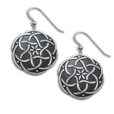 Celtic Endless Love sterling silver earrings designed by artist Jody Bergsma. With love, all things are possible. The earrings measure approximately 7/8 inches in diameter and are on sterling silver e