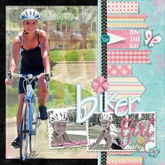 #papercraft #scrapbook #layout Scrapbook Page with 3 Photos - 1 large and 2 accenting by Deborah Wagner