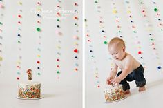 I love the simplicity of this cake & the background!