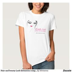 Hair and beauty Lash Extension company branding T Shirts