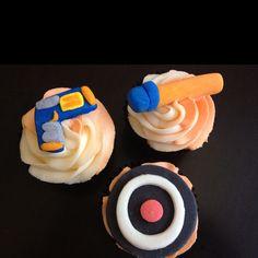 Nerf gun cupcakes!