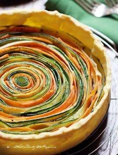 Superbe idée de tarte aux légumes revisitée!