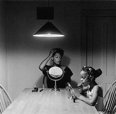 the work of Carrie Mae Weems is really inspirational in terms of dealing with issues of race, class, and womanhood.