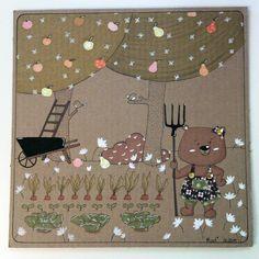 Le Potager - Illustration sur carton - 27x27 cm - Tous droits réservés - Miod illustration