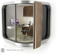 The OfficePOD is a Sustainable Workplace That Can Be Placed Anywhere #homedecor trendhunter.com