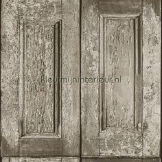 Oude panelen behang 138210, Vintage Rules van Esta home