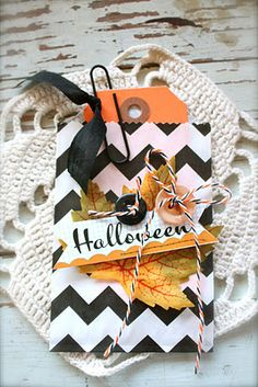 Halloween note and treat bag