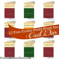 10 Free Kindle books about the Civil War | Free Homeschool Deals